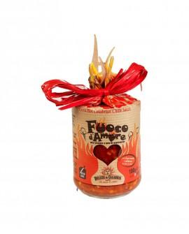 Condimento a base di Peperoncino Naso di cane - 180 g - Fuoco d'Amore - Cuore - Delizie di Calabria