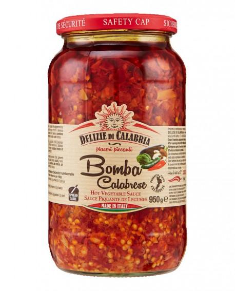 Bomba Calabrese - Mix di ortaggi misti con peperoncino - 950 g - Delizie di Calabria