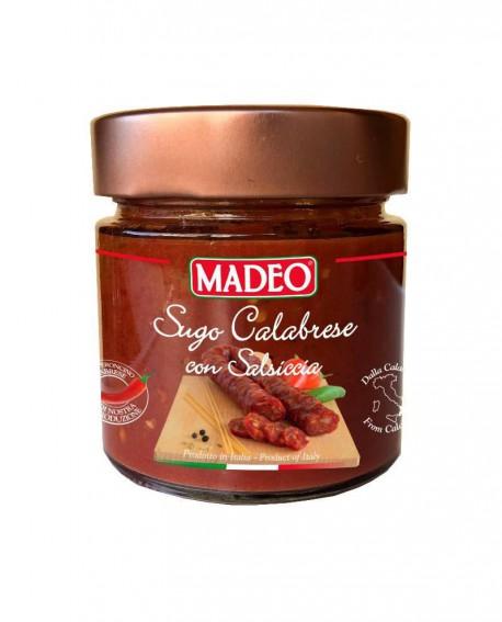 Sugo Calabrese con Salsiccia piccante in vaso vetro - 215g - Madeo