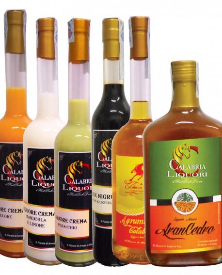 Degustazione scatola n.6 bottiglie MIX Liquori CALABRIA TIPICA - Calabria Liquori