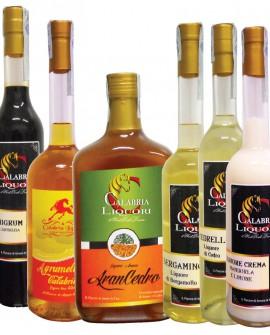Degustazione scatola n.6 bottiglie MIX Liquori CALABRIA AUTENTICA - Calabria Liquori