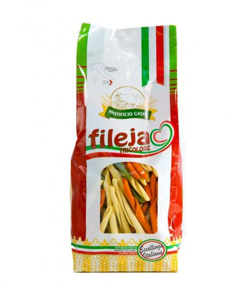 Fileja Tricolore pasta artigianale di semola di grano duro - 500g - essiccata a bassa temperatura - Pastificio Gioia
