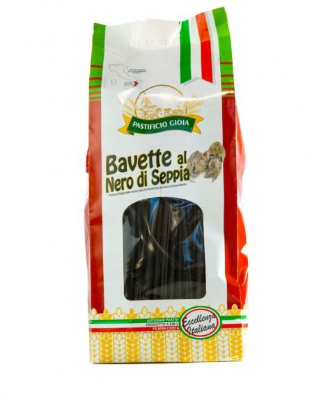 Bavette al Nero di Seppia pasta artigianale di semola di grano duro - 500g - essiccata a bassa temperatura - Pastificio Gioia