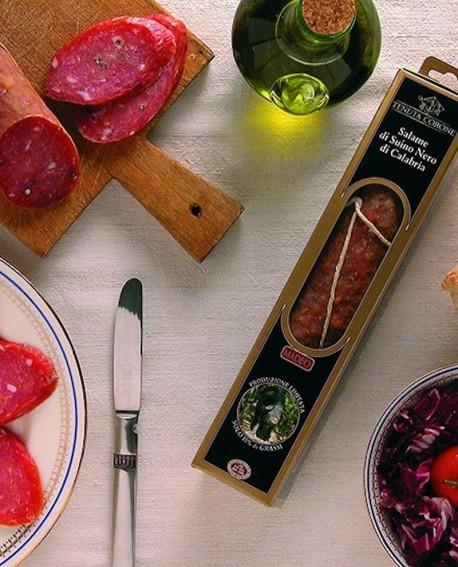 Salame di Suino Nero di Calabria 150 gr Tenuta Corone - Salumificio Madeo