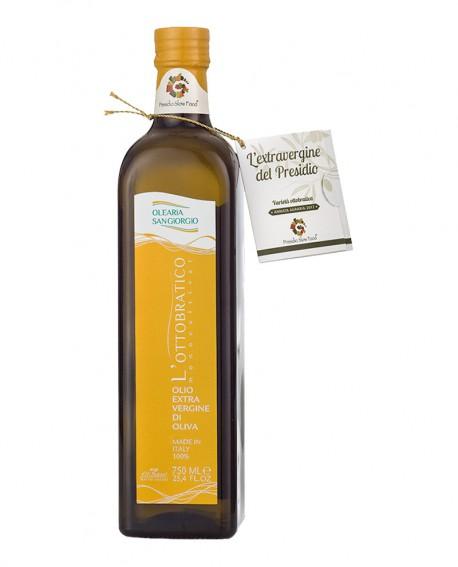 Olio L'Ottobratico extra vergine d'oliva - Presidio Slow Food - bottiglia 750 ml - Olearia San Giorgio