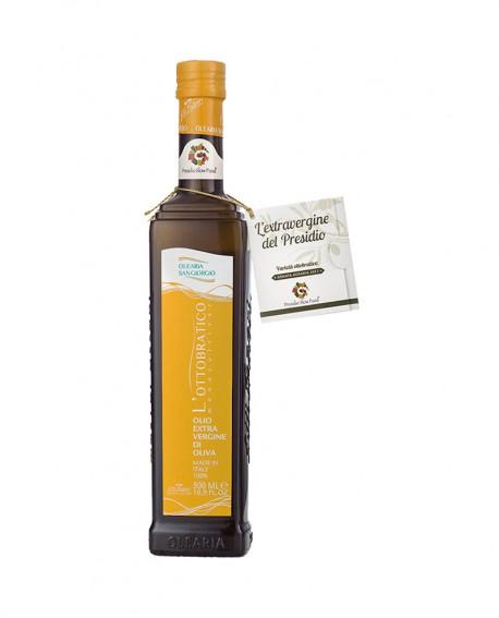 Monocultivar Olio L'Ottobratico extra vergine d'oliva - Presidio Slow Food - bottiglia 500 ml - Olearia San Giorgio