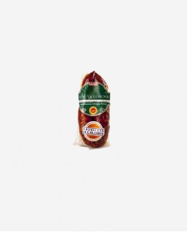 Salsiccia di Calabria D.O.P. catena rossa dolce 250 gr sottovuoto - Tenuta Corone - Salumificio Madeo